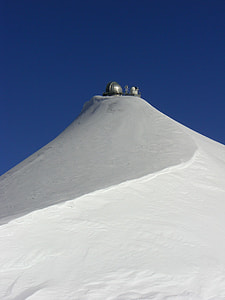 silver tower on white snow