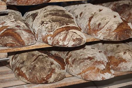 brown bread on rack