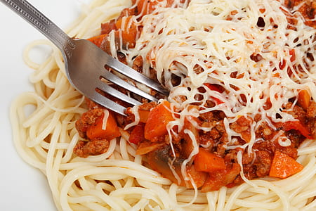 pasta with red sauce and cheese