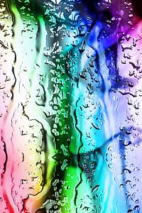 multicolored fluid