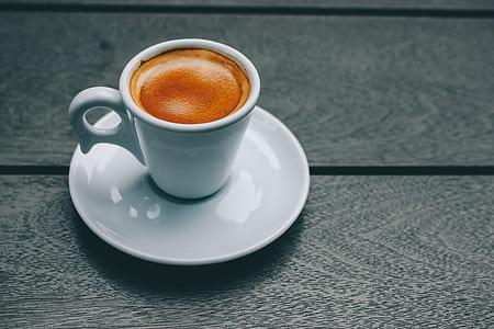 White Ceramic Mug and Saucer