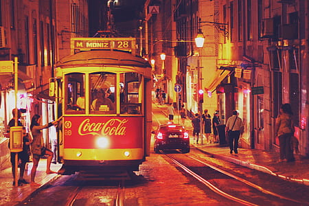 photo of Coca-Cola Tram during nighttime