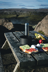 Camping Breakfast Nature Mountains