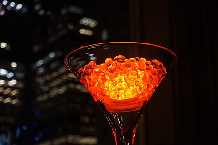 Closeup Photo of Clear Martini Glass
