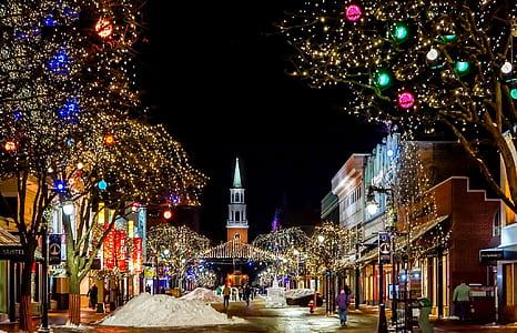 city of light during night
