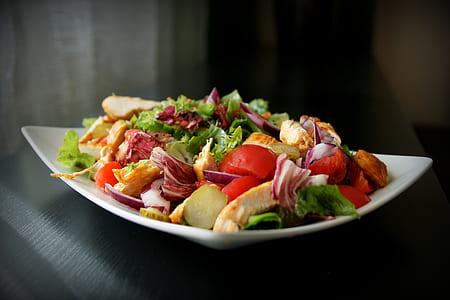 garden salad on plate