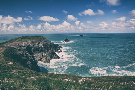Seascape shot taken on the coastline of Cornwall in the South of England