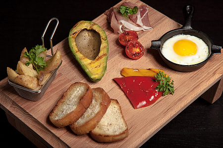 Eggs and breakfast selection