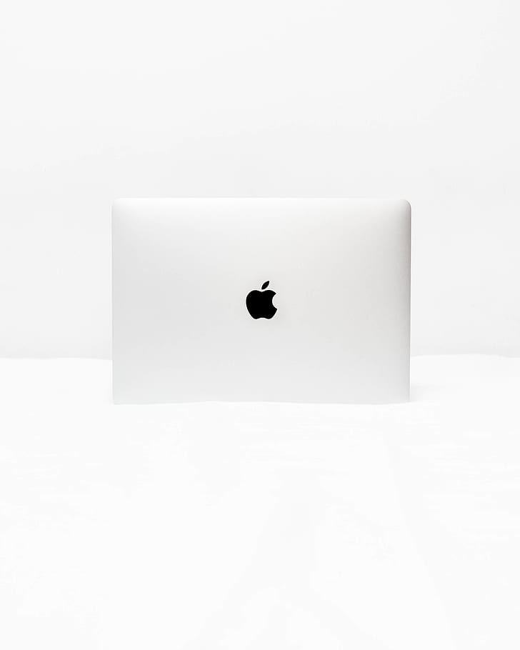 Royalty Free Photo Silver Apple Macbook On White Surface Pickpik