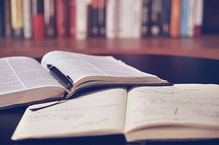 Royalty-Free photo: Books in school library | PickPik