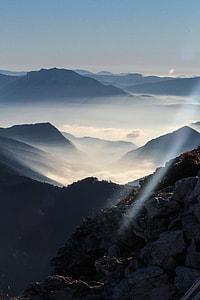 bird's eye view of landscape mountain