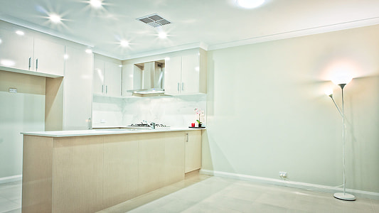 white wooden wall-mount kitchen cabinet