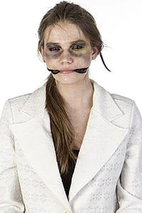 woman in white blazer