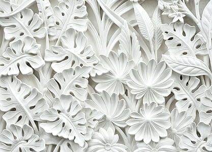 white leaves decor