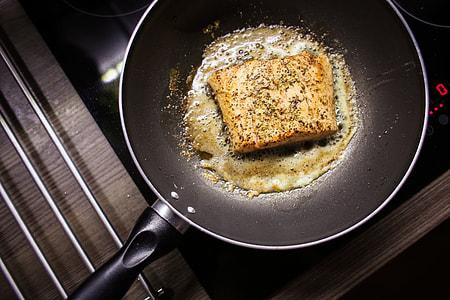 Pan-Seared Salmon Steak Fillet