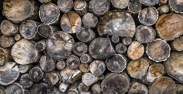 black and brown cordwood
