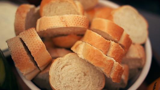 selective focus photo of slice bread