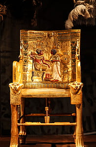 Ancient Egypt engraved chair