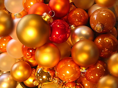 red-and-orange bauble lot