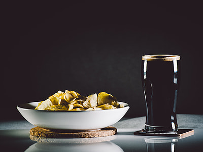 Stout and potato chips