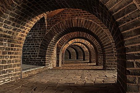 dome concrete bricks pathway