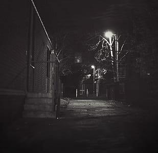 gray concrete dark pathway