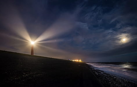 landscape photography of light house near body of water