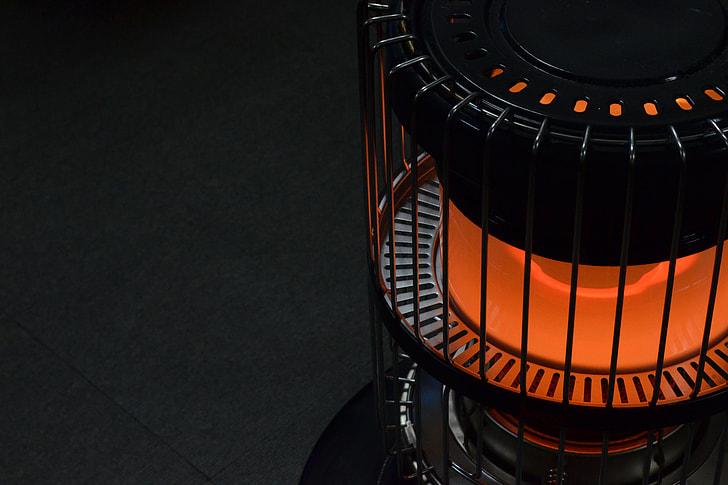 Winter fireplace stove