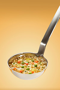 stainless steel Saddle with Noodle soup