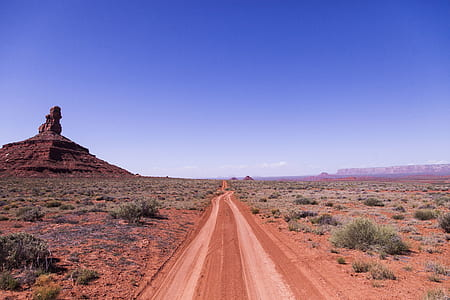 Brown Soil Road Under Clear Sky