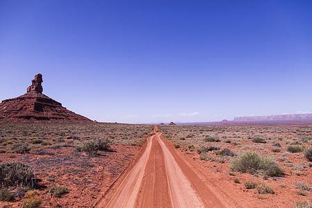 Brown Soil Road Under Clear Sky