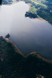 aerial photo of lake during daytime