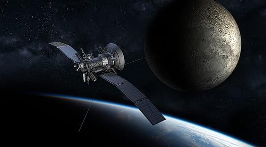 satellite near earth surface