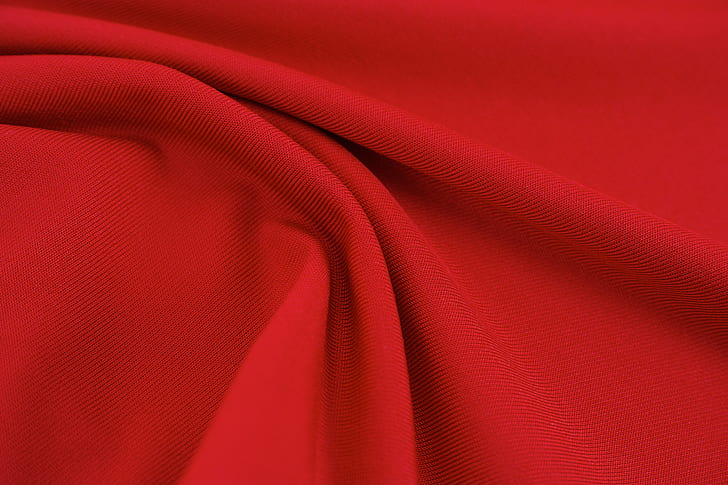 photo of red textile