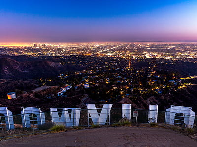 Hollywood hill, Los Angeles, California