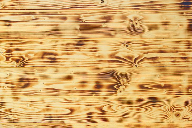 brown, surface, wood, texture, fire, burn