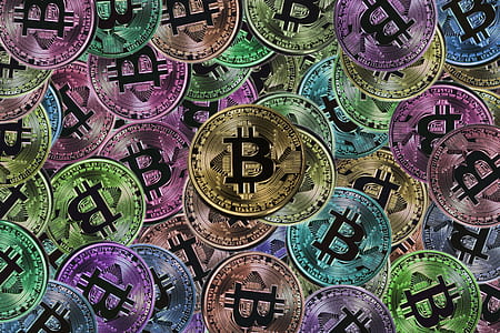 Bitcoin tokens wallpaper