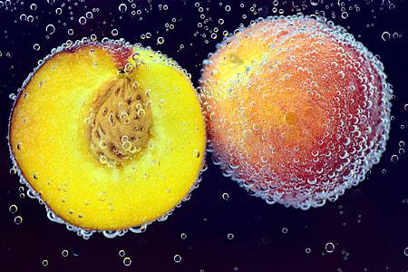 close up photograph of slice citrus fruit