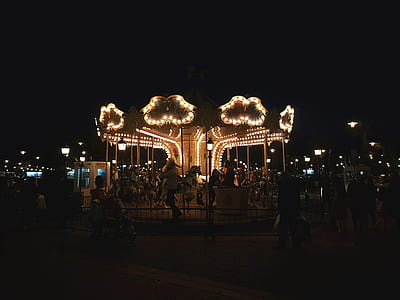 Photo of Carnival Horse Carousel at Night