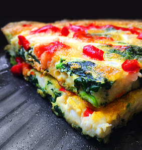 Omelette with Whitebait and Spinach