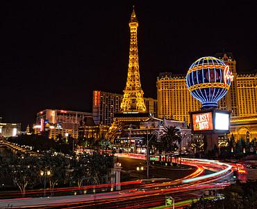 timelapse photo of tower during Las Vegas Nevada