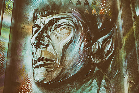 This 'Mr Spock' street art image was captured on a wall in Shoreditch