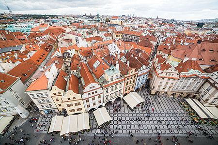 Prague Old Town Square Houses and Panorama