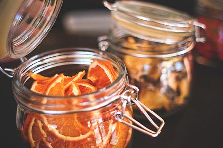 Dried Oranges in an Old Jar