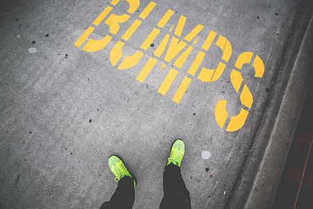 BUMPS Yellow Sidewalk Road Marking