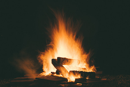 bonfire at nighttime