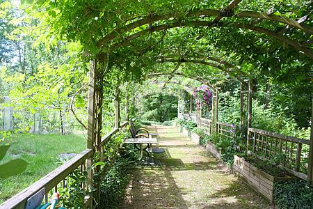 garden arbor pathway