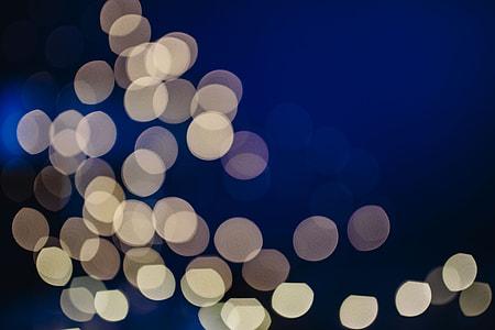 White abstract bokeh lights