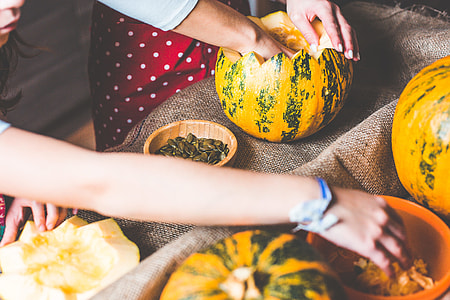 Family Time: Preparing and Carving Halloween Pumpkins