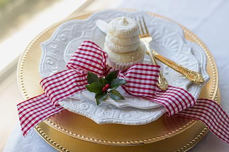 cupcake on white plate